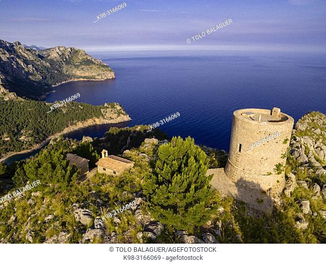 Torre de sa Mola de Tuent , 1596, Escorca, Paraje natural de la Serra de Tramuntana, Mallorca, balearic islands, Spain