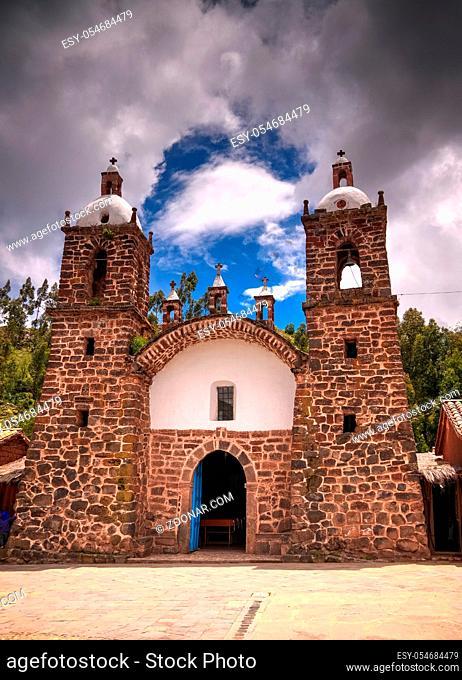 exterior view to church of Raqchi at Cuzco, Peru