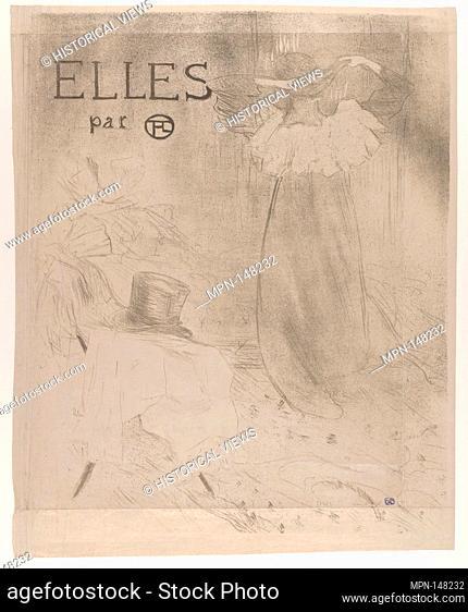 Elles (portfolio cover). Series/Portfolio: Elles, 1896; Artist: Henri de Toulouse-Lautrec (French, Albi 1864-1901 Saint-André-du-Bois); Publisher: Gustave...