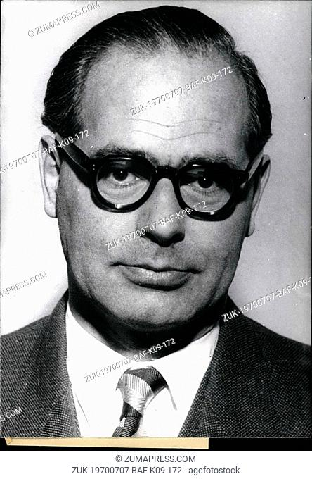 Jul. 07, 1970 - Count Karl Of Spreti: The ambassador of the Federal Republic in Guatemala, who was Kidnapped last Tuesday buy revolutionaries