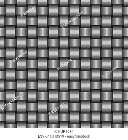 Abstract seamless background, steel texture of intertwined metal fibers, vector illustration