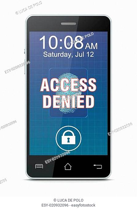 fingerprint reader on a smartphone
