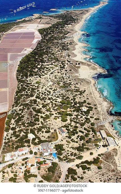 Ses Salines, Es Pujol des Palo on top, Formentera, Balearic Islands, Spain
