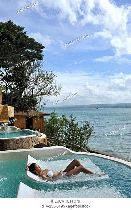 Hydrotherapy talasso pool, Badian Natural Spa at Badian Island Resort and Spa, Cebu, Philippines, Southeast Asia, Asia