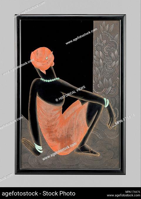 African Woman. Designer: Jean Dunand (French (born Switzerland), Lancy 1877-1942 Paris); Date: 1928-30; Medium: Lacquered wood