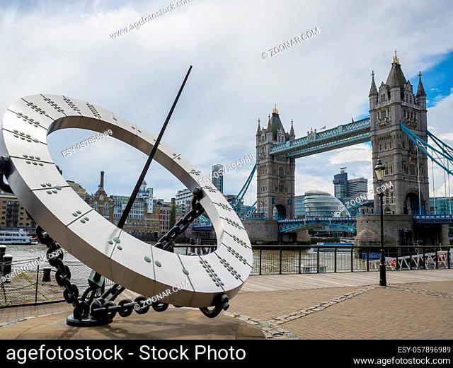 Sun Dial near Tower Bridge in London