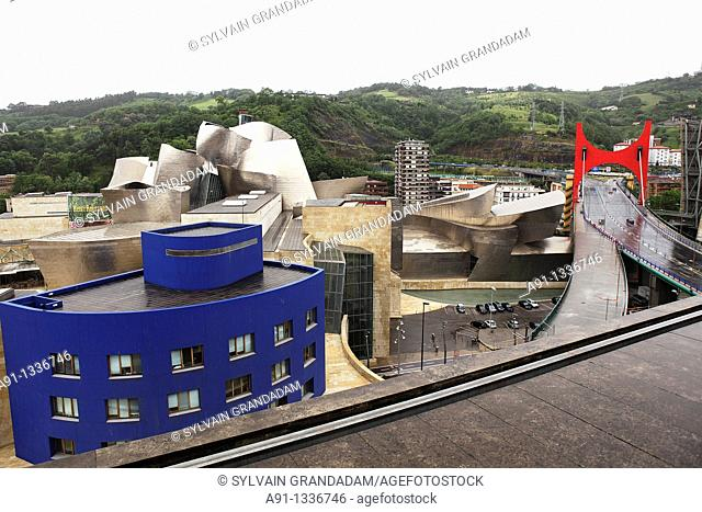 Spain, Basque Province Euskadi, Bilbao, Hotel design 'Domine' five stars located in front of the Guggenheim Museum, architect Inaki Auerrecoetxea