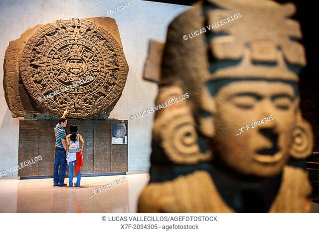 The Aztec Stone of the Sun, National Museum of Anthropology, Mexico City, Mexico