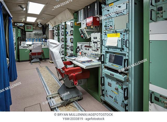 Missile launch station in cold war era underground bunker, Minuteman Missile National Historic Site, South Dakota