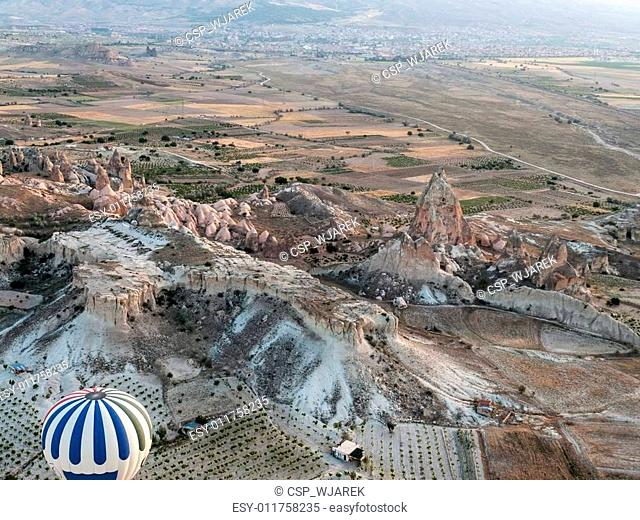 Cappadocia, Turkey.The greatest tourist attraction of Cappadocia , the flight with the balloon at sunrise