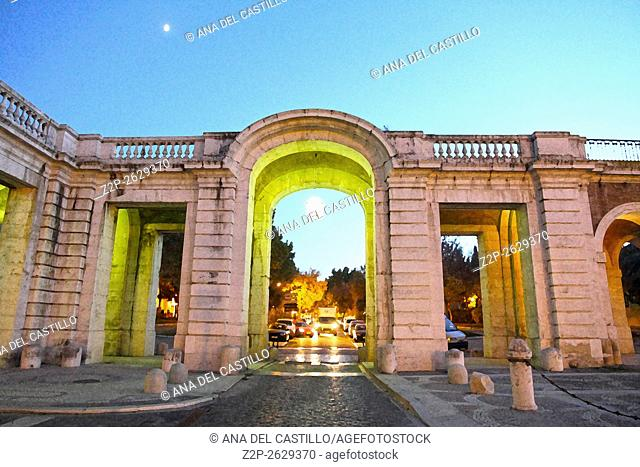 Royal palace in Aranjuez by dusk Madrid province Spain