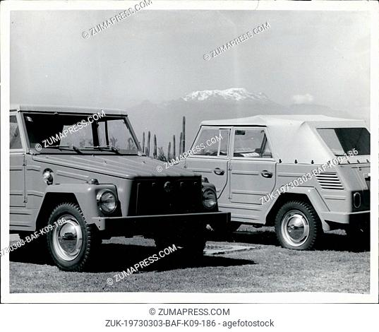Mar. 03, 1973 - The first shipments of 12,000 VW Safari to the US start march 15, 1973. The Volkswagen Safari has so far not been exported to the Us in...