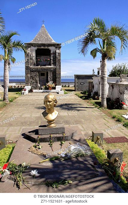 Tomb of poet Leconte de Lisle at Saint-Paul cemetery, Reunion Island, France