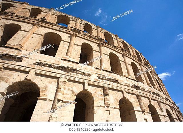 Tunisia, Tunisian Central Coast, El Jem, Roman Colosseum, b  238 AD