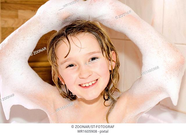 Girl in the bathtub