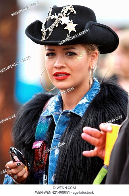 Glastonbury Festival 2014 - Celebrity sightings and atmosphere - Day 2 Featuring: Rita Ora Where: Glastonbury, United Kingdom When: 27 Jun 2014 Credit: WENN