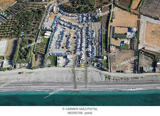 Dry dock, Nerja. Costa del Sol, Málaga province, Andalusia, Spain