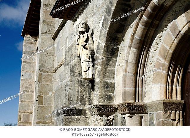 Sculpture of St James the Apostle, Santa Marta de Tera, Zamora province, Castilla-Leon, Spain