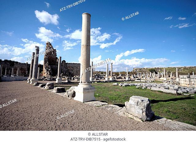 COLUMNS OF AGORA; PERGE, TURKEY; 19/11/2007