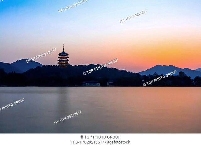 beauty of Leifeng pagoda