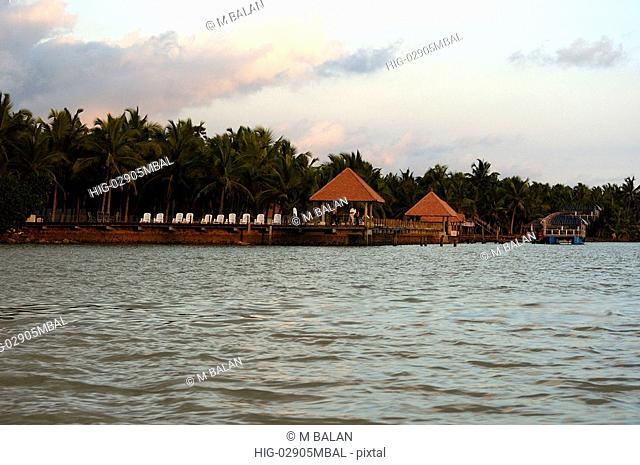 BACKWATERS OF POOVAR, SOUTHERN KERALA, TRIVANDRUM DIST