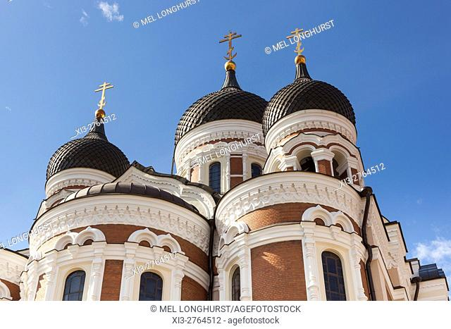 Orthodox Cathedral of Alexander Nevsky, Toompea, Old Town, Tallinn, Estonia