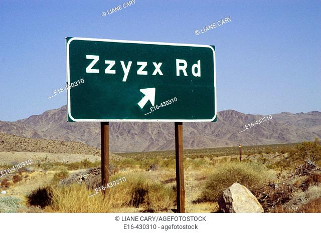 Zzyzx road sign. California, USA