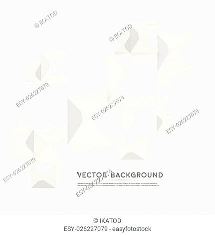 Vector Abstract geometric shape from gray cubes. White pyramides
