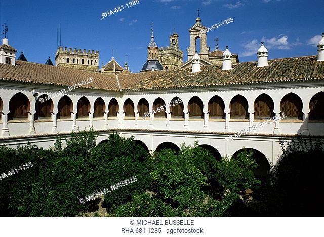 Monastery and parador, Guadalupe, Caceres region, Extramadura, Spain, Europe