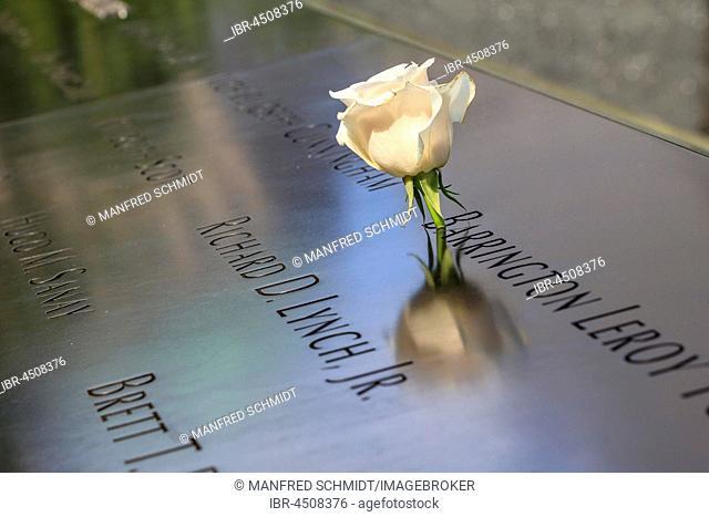 Memorial World Trade Center, 9-11 Memorial, Ground Zero, Manhattan, New York City, New York, USA