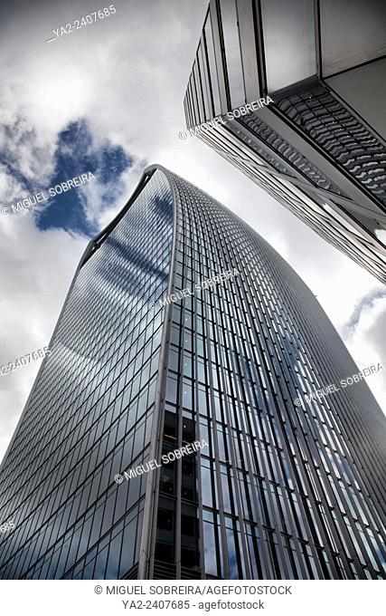The 'Walkie Talkie' - 20 Fenchurch Street Building from Fenchurch street in London UK