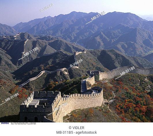 China, Asia, Peking, Mountain scenery, Chinese Wall