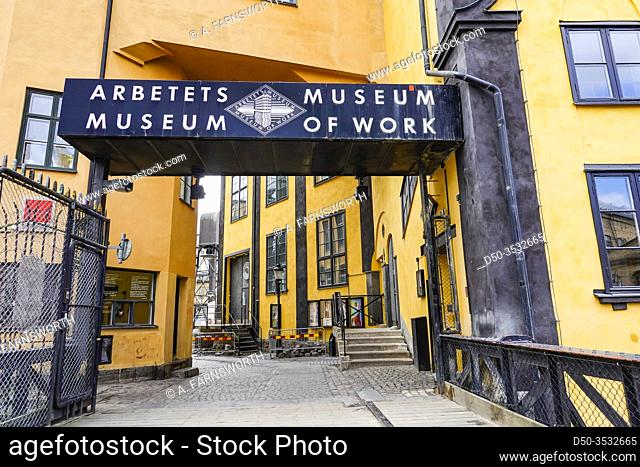 Norrkoping, Sweden The old iconic mill and industrial section of town and the Museum of Work