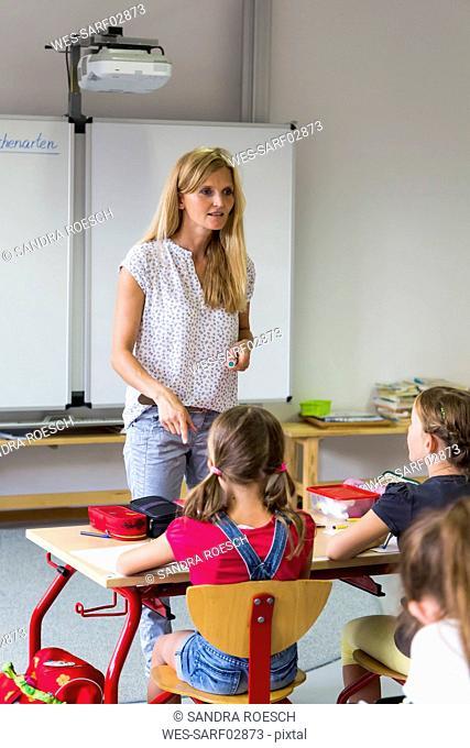 Teacher at class