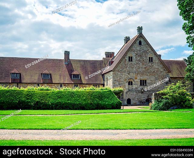 UPPER DICKER, EAST SUSSEX/ UK - JUNE 26: Exterior View of Michelham Priory and Gardens in Upper Dicker, East Sussex UK on June 26, 2016