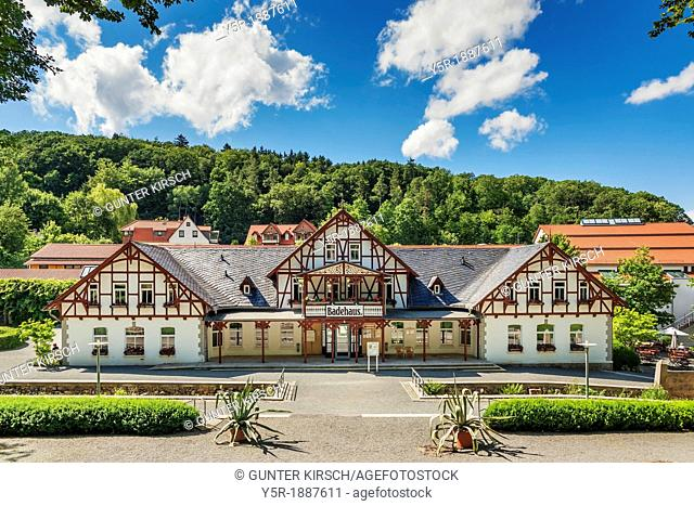 Bath house in the spa town of Bad Suderode The bath house is located in the spa gardens Bad Suderode is a district of the town of Quedlinburg in the Harz...