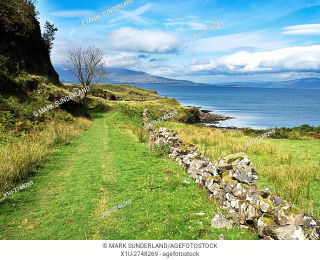 Footpath by the Sea Isle of Kerrera Argyll and Bute Scotland