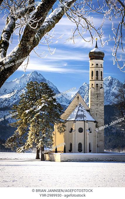 Saint Coloman Church near Fussen, Bavaria Germany