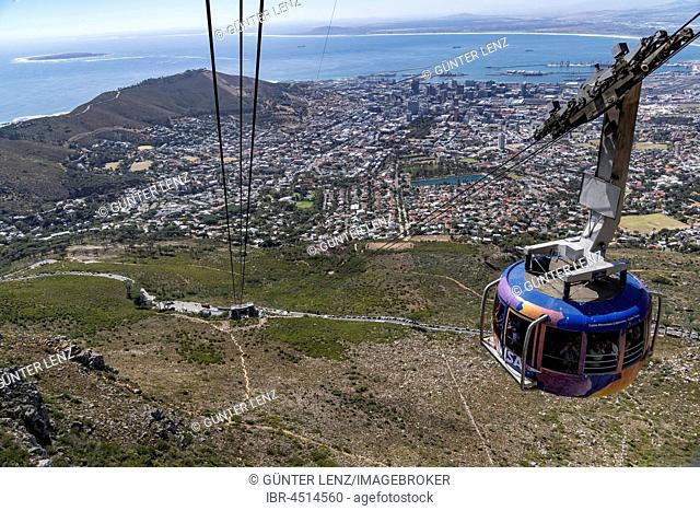 Gondola, Table Mountain Cableway, View of, Cape Town, Western Cape, South Africa