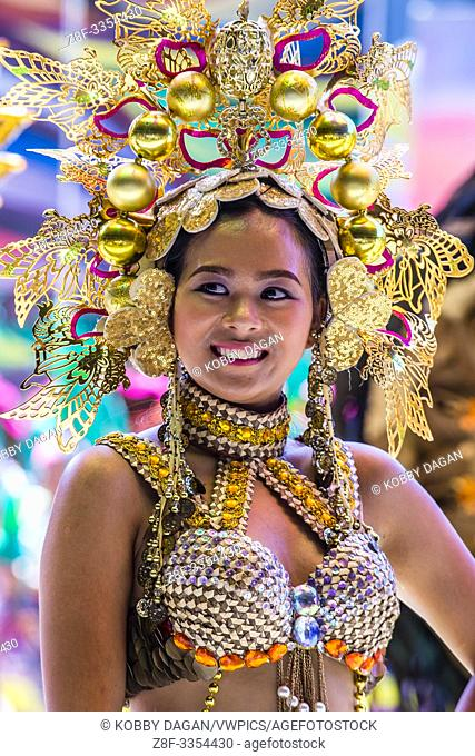 Participant in the Dinagyang Festival in Iloilo Philippines