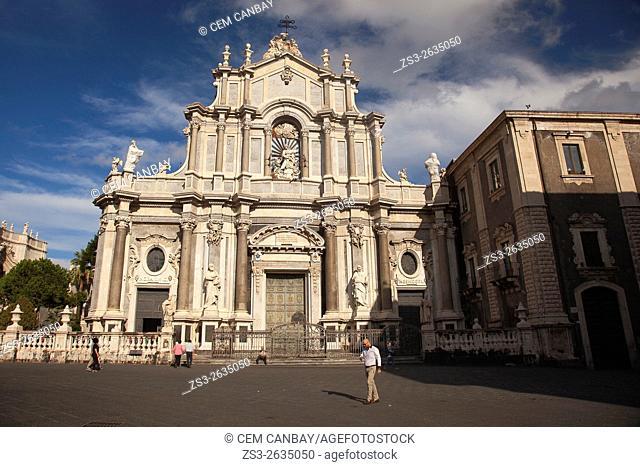 Saint Agata Cathedral at Piazza del Duomo, Catania, Sicily, Italy, Europe