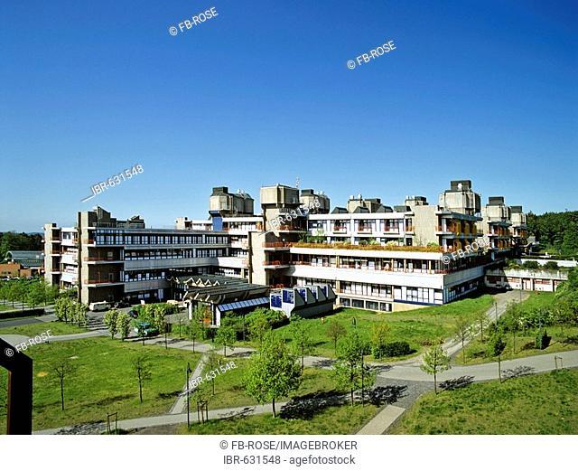Panoramic view of Klinikum Marburg (hospital), Hesse, Germany, Europe
