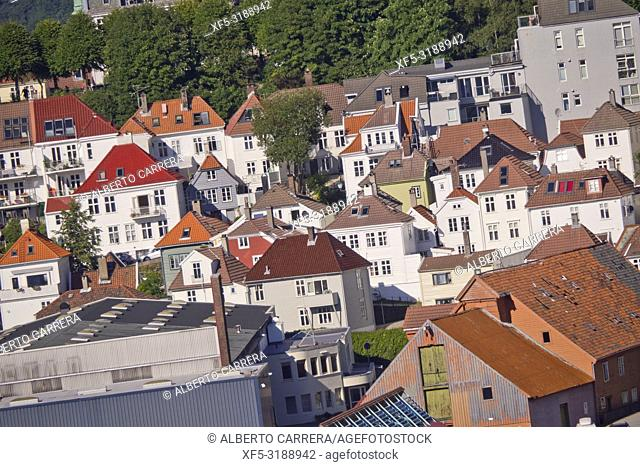 Traditional Architecture, Old Town, Bergen, Norway, Scandinavia, Europe