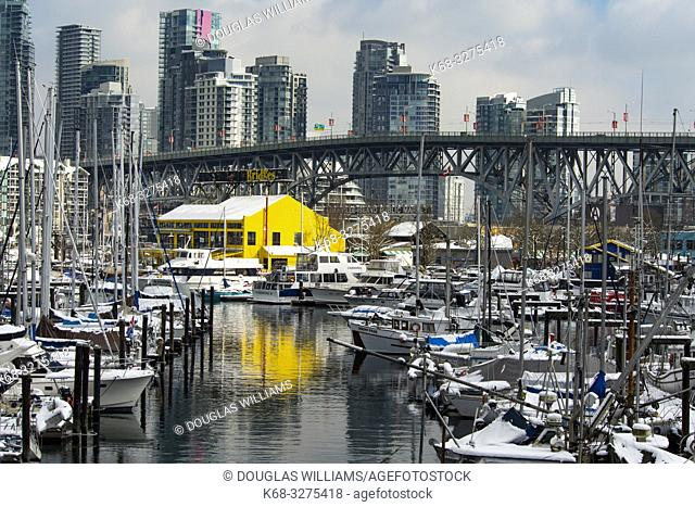Vancouver skyline and Granville Island, Vancouver, BC, Canada