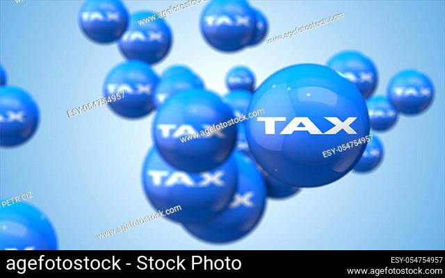 Tax as financial metaphor balls background