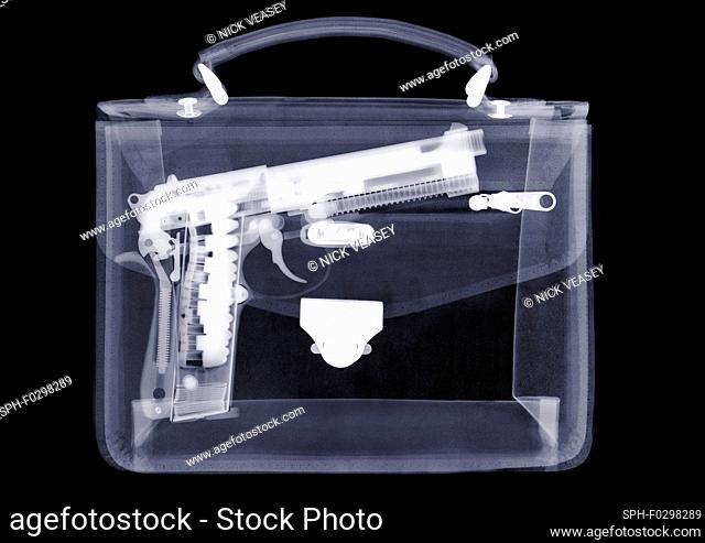 Handbag with gun, X-ray