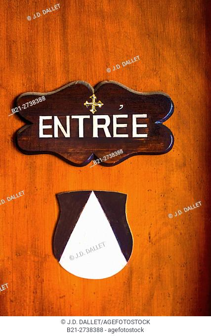 France-Aquitaine-Gironde- Entrance to the Dominican congregation Saint Paul church at Bordeaux