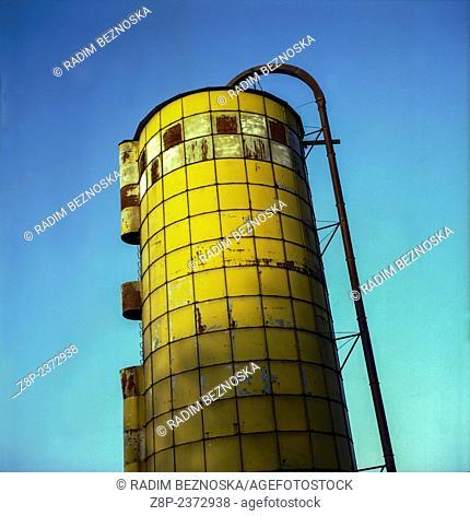 silo on a farm