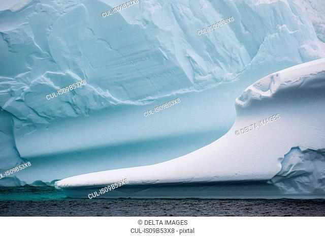 Detail of icebergs in Lemaire channel, Antarctica