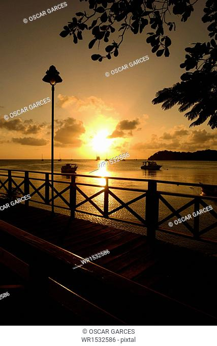 Sunset in San Andres Island, Archipelago of San Andres, Providencia and Santa Catalina, Colombia